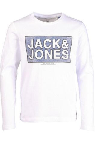 Jack & Jones T-Shirt cotube Tee  Ls Crew Neck Jr white