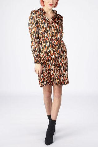 Vero Moda Dress chloe Ls Abk Shirt Wvn Lcs black/rust