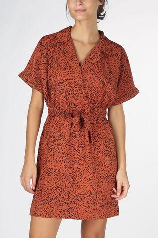 Vero Moda Dress annabell 2/4 Short Wrap Wvn rust
