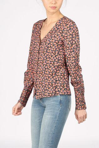 Vero Moda Shirt Vmmilda Ls Wvn Ga black/light pink