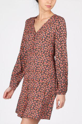 Vero Moda Dress Vmmilda Ls Wvn Ga black/light pink