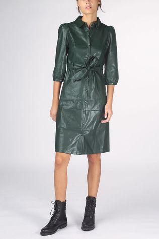 Vero Moda Robe butter Lee Coated Below Knee Vip Vert Foncé