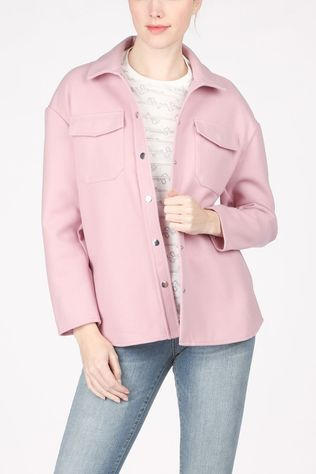 Only Blazer Onlmaci L/S Shacket Cc Pnt light pink