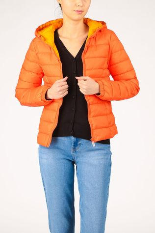 Only Manteau Onlnewtahoe Contrast Hood Jacket Cc Otw Orange