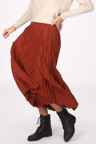 Selected Skirt alexis Mw Midi Nos rust