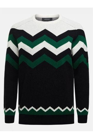 Peak Performance Pullover Mountain Jacquard green/black