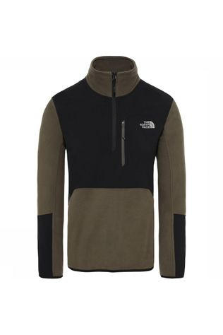 The North Face Fleece Glacier Pro 1/4 Zip Donkerkaki