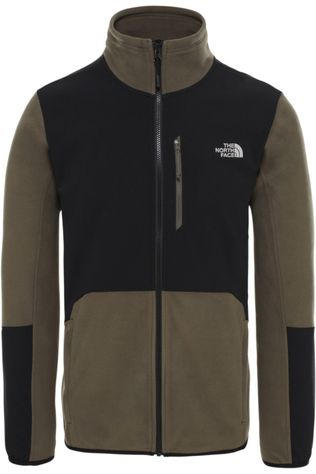 The North Face Fleece Glacier Pro Full Zip Donkerkaki/Zwart