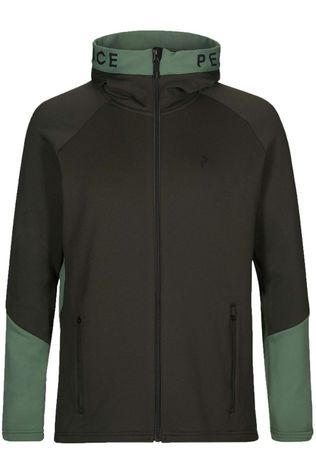 Peak Performance Fleece M Rider Zip Hood Donkerkaki