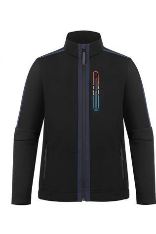 Poivre Blanc Fleece Stretch Fullzip black