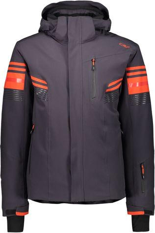 CMP Coat Man Jacket Zip Hood black/orange