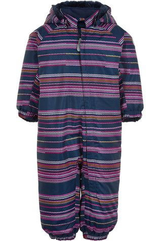 Color Kids Combinaison De Ski Coverall Aop-Stribe, Af 10.000 Bleu/Assorti / Mixte