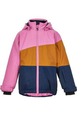 Color Kids Manteau Ski Jacket, Af 10.000 Marron Chameau/Rose Moyen