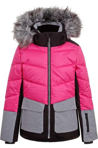 Icepeak Coat Lillie Jr I light grey/mid pink