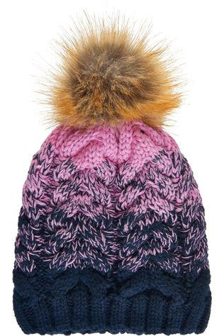 Color Kids Diverse Thick Cabel Hat Donkerblauw/Middenroze