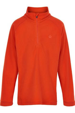 Color Kids Fleece Pulli, Solid Oranje