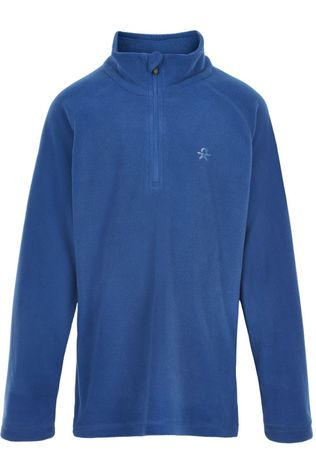 Color Kids Fleece Pulli, Solid Blauw