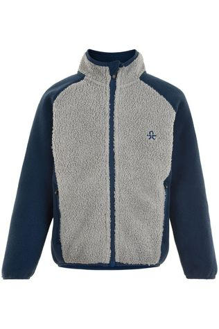 Color Kids Fleece Jacket, Grey Melange Donkerblauw/Lichtgrijs