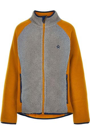 Color Kids Fleece Jacket, Grey Melange Kameelbruin/Lichtgrijs