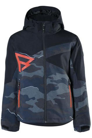 Brunotti Coat Pander-Ao-Jr Boys Dark Grey/Ass. Camouflage