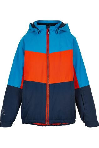 Color Kids Manteau Ski Color, Af 10.000 Bleu Foncé/Orange