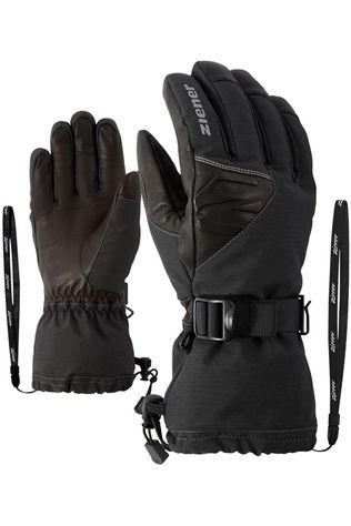 Ziener Handschoen Gofried As Alpine Wool Glove Donkergrijs Mengeling/Zwart