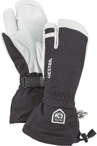 Hestra Gant Army Leather Heli 3-Finger Noir/Blanc