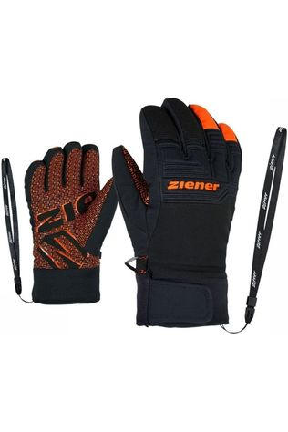 Ziener Glove Lanus As Pr Junior black/orange