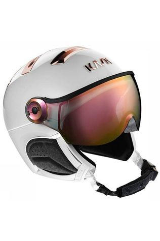 Kask Casque De Ski Chrome Visor Blanc/Or