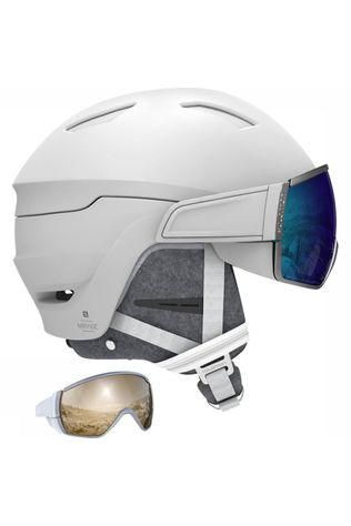 Salomon Ski Helmet Mirage+ white/blue