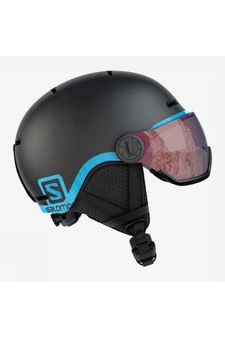 Salomon Ski Helmet Grom Visor black/blue