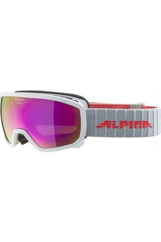 Alpina Skibril Scarabeo Junior Hm Wit/Middenroze
