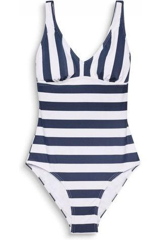 Esprit Badpak North V-Neck Swimsuit Blauw/Wit