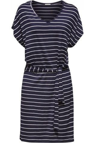 Esprit Dress Port Beach Dress Cotton Stripe Sl blue/white