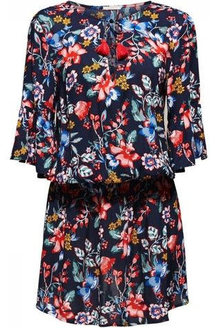 Esprit Dress Jasmine Beach Dress 3/4 Sleeve Marine/Assortment Flower