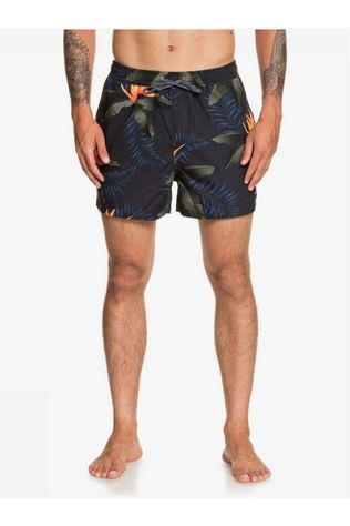 Quiksilver Short De Bain Poolsider Volley 15 Noir/Ass. Fleur