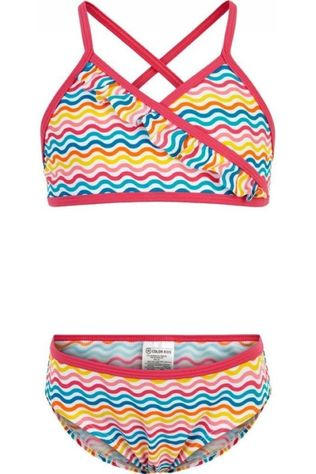 Color Kids Bikini Nilje Aop Wit/Ass. Regenboog