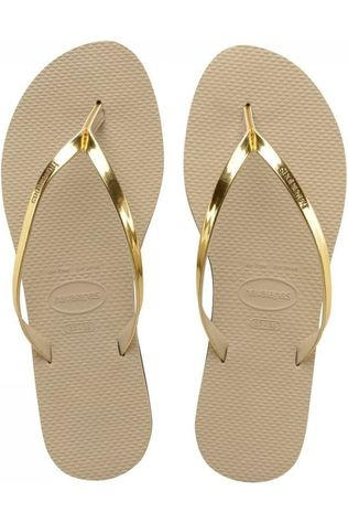 Havaianas Slipper You Metallic Zandbruin/Middengrijs