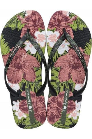 Ipanema Slipper Love Sun Zwart/Ass. Bloem