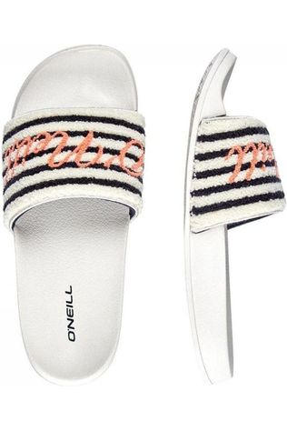 O'Neill Tongs Fw Slide Terry Noir/Blanc Cassé