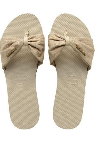 Havaianas Slipper You Saint Tropez Shine Ecru