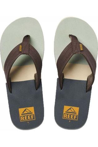 Reef Tongs Tri Waters Gris Moyen/Vert
