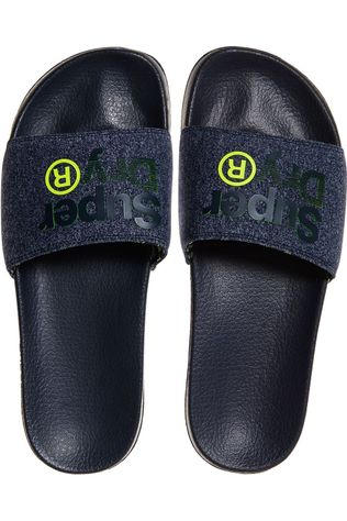 Superdry Tongs Lineman Pool Slide Bleu