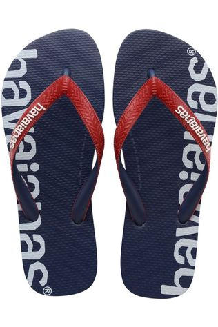 Havaianas Tongs Logomania Hightech Bleu Marin/Rouge