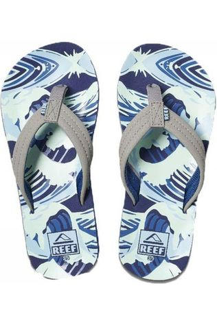 Reef Slipper Little/Kids Ahi Middengrijs/Blauw