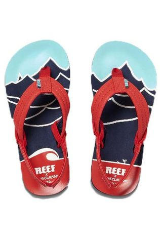 Reef Tongs Jonas Claesson Little/Kids Ahi Rouge/Bleu