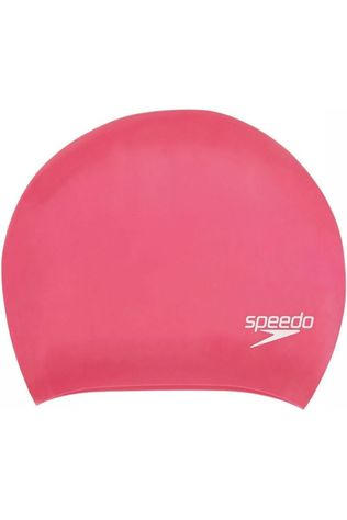Speedo Badmuts Long Hair Cap Donkerroze