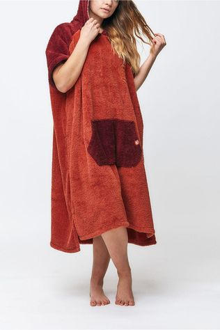 After Essentials Miscellaneous Sherpa Poncho Bordeaux / Maroon