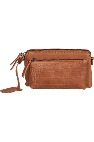Burkely Bag Croco Cody Minibag Camel Brown