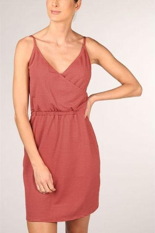 Beachlife Dress 070813 dark pink/white